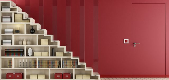 shelving units forming part of an understair storage solution