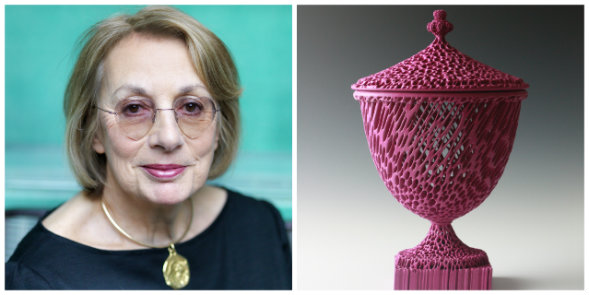 Nina Campbell and Eden Sassoon urn
