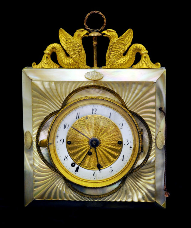 19th Century Empire Style Vienesse Wall Clock