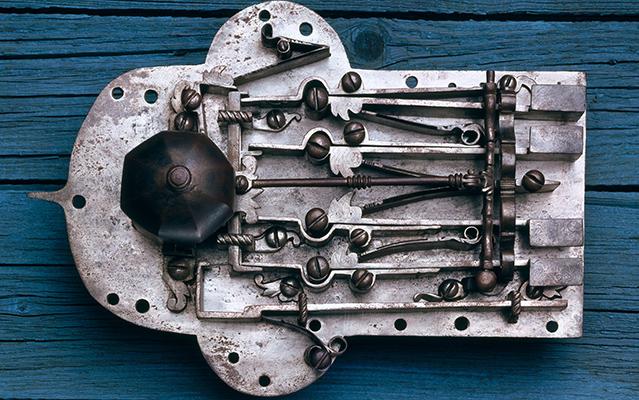Close-up of antique lock