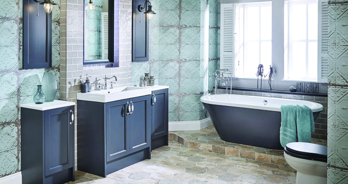 Roseberry range of painted timber bathroom furniture from Utopia Bathrooms