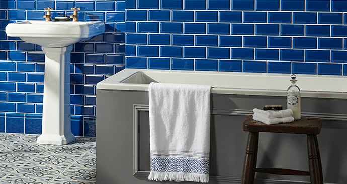 Windsor Blue Metro Tiles from the Artworks range