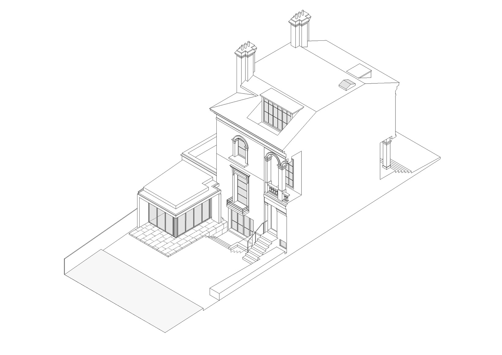 Grade 2 listed villa in Islington, drawings