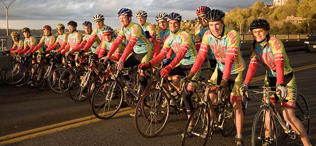 AHMRYK Group of cyclists