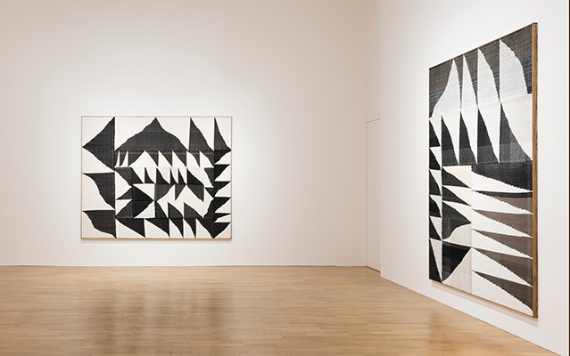 Brent Wadden, How Long is Now, 2015. From left: Alignment #53; Alignment #52