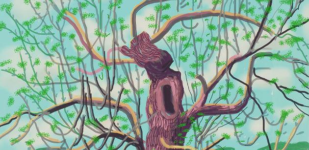David Hockney Arrival of Spring