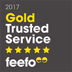 feefo gold trusted merchant 2017