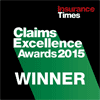 Insurance Time Claims Excellence Awards 2015 winner