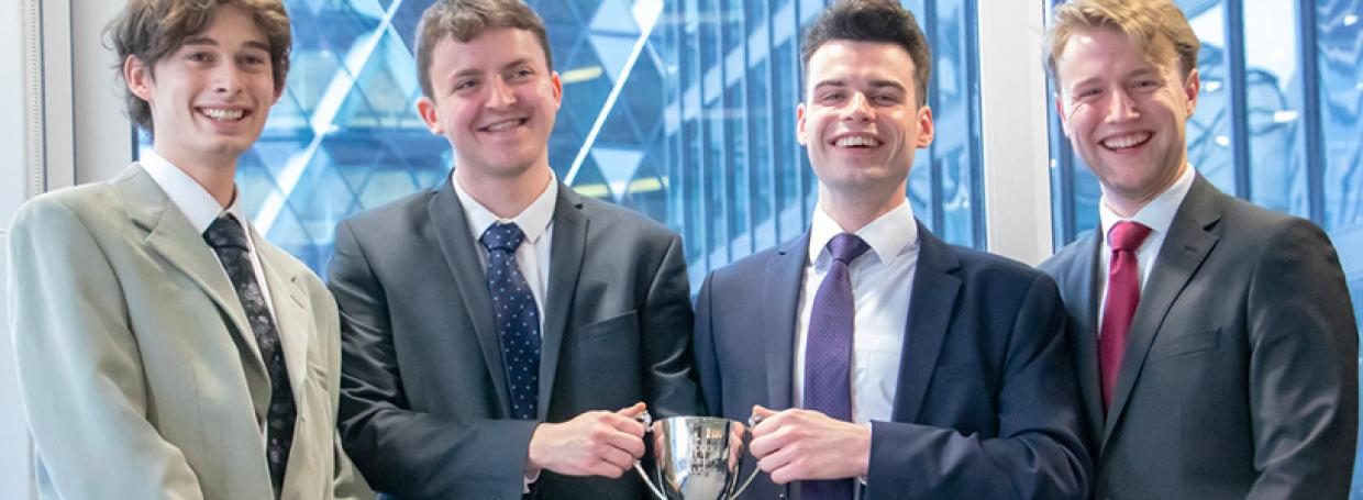 exeter university winners of Hiscox challenge