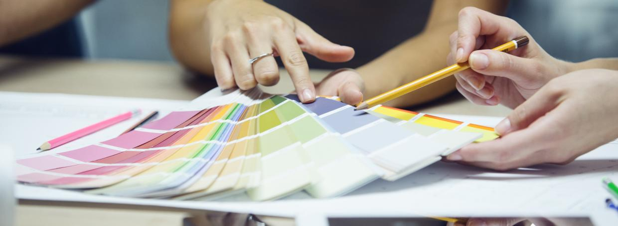 Choosing colour swatches