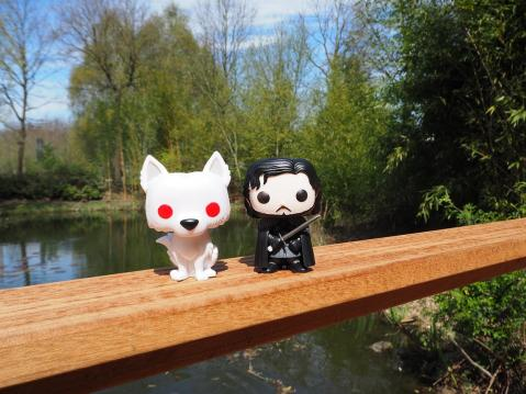 Jon Snow and Ghost Game of Thrones Funko Pop Collectibles