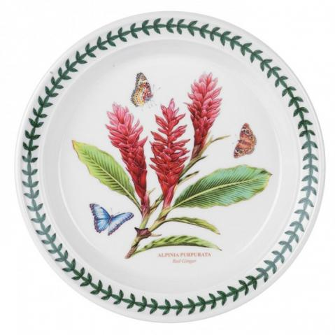 Portmeirion pottery red ginger pattern china plate