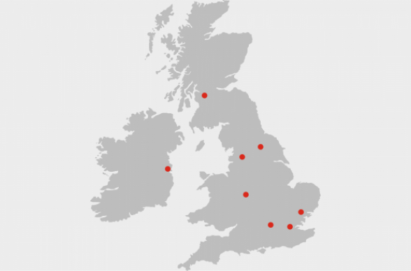 Hiscox regional broker offices in the UK