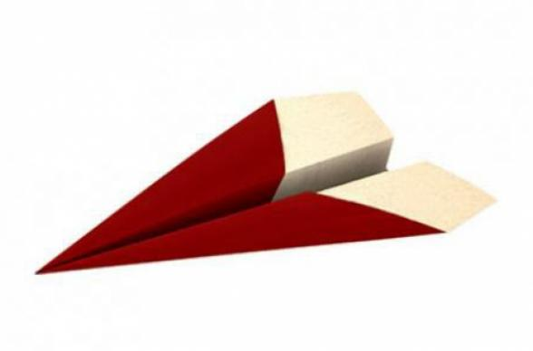 Red paper airplane