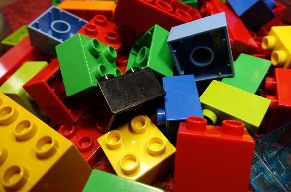 Colourful LEGO blocks